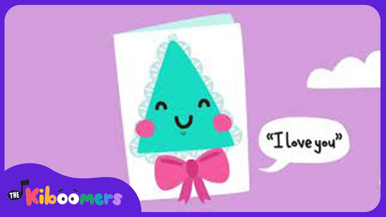 Im a Little Valentine Song for Kids | The Kiboomers | Valentines Day | Teach Shapes | For Children
