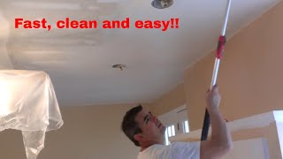 How to paint interior ceilings after popcorn removal