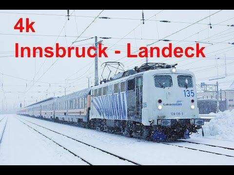 4k Cabride / Führerstandsmitfahrt Innsbruck - Ötztal - Imst-Pitztal - Landeck-Zams