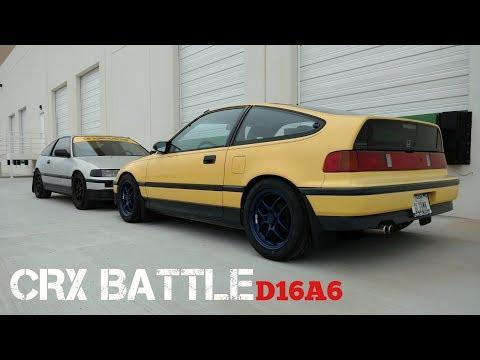 CRX Si Drag Race Battle - D16A6 Non Vtec Engines