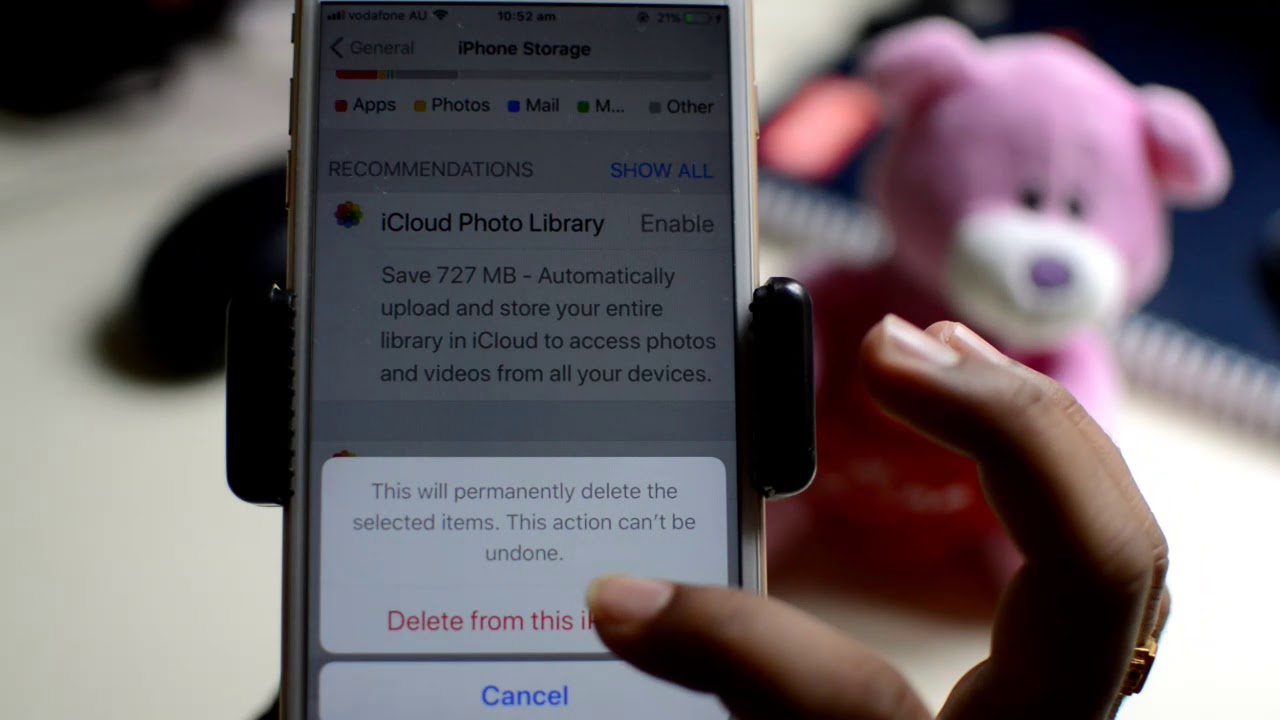 How to empty trash or recently deleted items in iPhone
