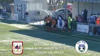RFC Liège - KSK Heist (résumé non officiel)