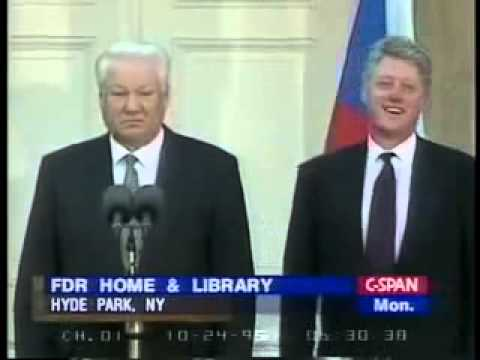 Drunk Boris Yeltsin