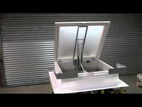 Polycarbonate 160° AOV Smoke Ventilator by Surespan