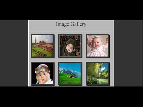 How To Make HTML CSS Image Gallery  Picture Gallery  Photo Gallery Urdu/Hindi HD