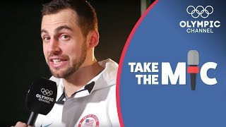Chris Mazdzer reacts to his Luge runs from PyeongChang 2018 | Take the Mic