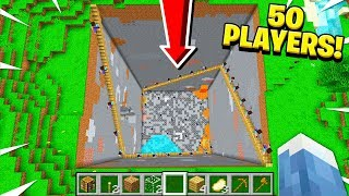 I Had 50 PLAYERS Help Me DIG Out The MINECRAFT WORLD!