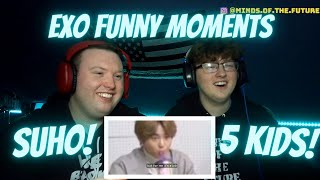 EXO Funny Moments \Exos Suho and His 5 Year Olds\  Reaction