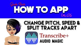 Change Pitch, Speed & Split Tracks Apart on iOS - How To App on iOS! - EP 85 S2