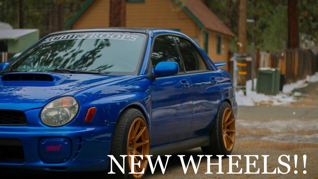 Gold Xxr 527 S On Subaru Wrx Youtube