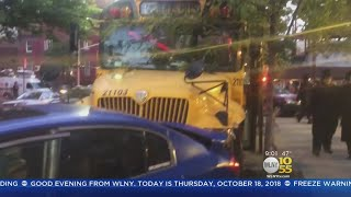 Video School Bus Slams Into Row Of Parked Cars In Brooklyn download MP3, 3GP, MP4, WEBM, AVI, FLV Oktober 2018
