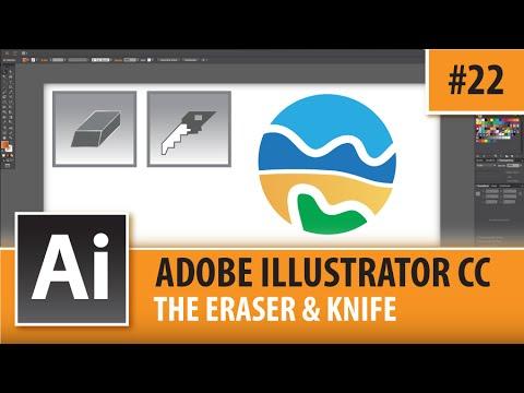 illustrator Tutorial - Change Eraser Tool Size - YouTube