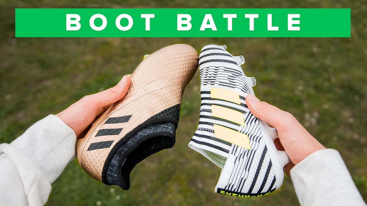 watch good out x large discount Nemeziz 17+ Vs Messi 16+ | adidas agility football boot battle