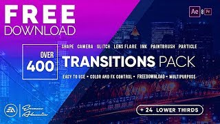 Download lagu 400 Transitions PackLower Thirds Pack FREE Download for After EffectsPremiere Pro MP3