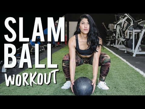 Slam Ball Workout for Women 3 Moves for Better Legs & Abs!