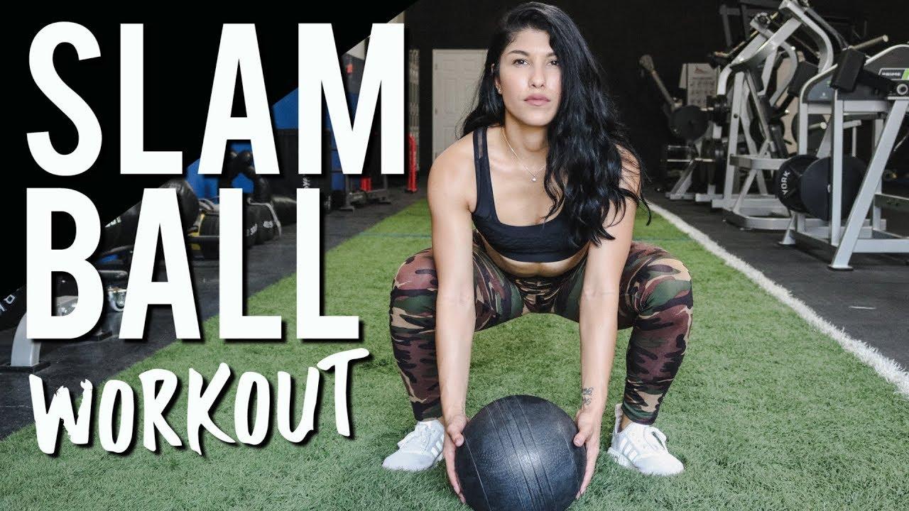 Slam Ball Workout for Women - 3 Moves for Better Legs ...