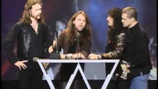 Metallica Wins Favorite Heavy Metal Artist - AMA 1993