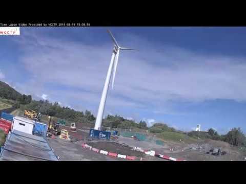 Our new Swansea wind turbine / Tyrbin gwynt Abertawe