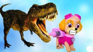 Щенячий патруль Машина времени Динозавры #Мультикипро Игрушки Герои в масках #Мультфильмы для детей