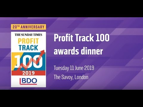 BDO sponsors the Sunday Times Profit Track 100 - BDO