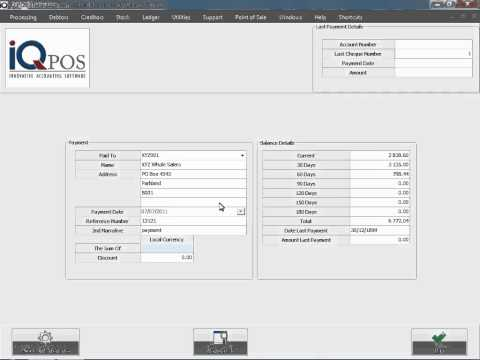 IQ POS   POS   Creditors Payment   1   Transaction + Reports