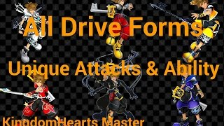 Kingdom Hearts 2.5 All Drive Forms - Attacks & Abilities