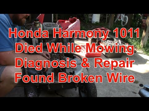 Honda Harmony 1011 Starter Won't Spin, Ignition Switch Dead! on