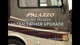 Gambar cover Thor Palazzo Motorhome Peeling Furniture Upgrade to Ultraleather