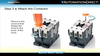Як побудувати комбінація пускача електродвигуна - стартера в зборі (Частина 3 з 4)