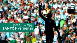 embeded bvideo Resumen | Santos Laguna 3 - 1 Tigres UANL | Jornada 5 Apertura 2018