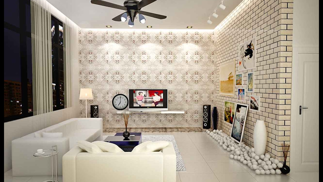 Modern Living Room Wallpaper Ideas wallpaper for small living room, bedroom, dining room ideas - youtube