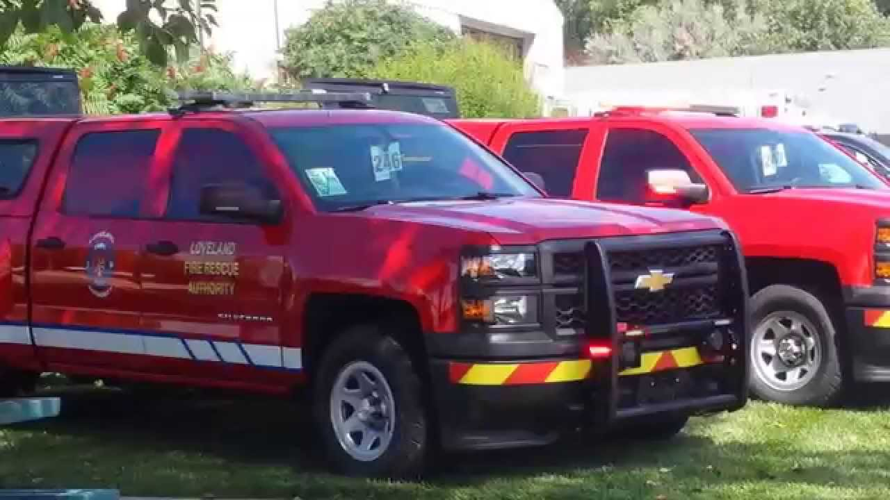 Loveland Fire Rescue Command Staff Vehicles Youtube