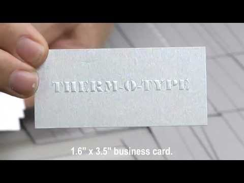 Zip ts2l blind embossed business cards therm o type corp youtube reheart Images