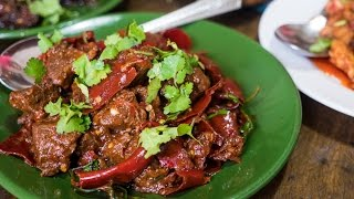 Sikkimese Food in Thimphu, Bhutan - Incredible Beef and Fireball Chilies! (Day 5)