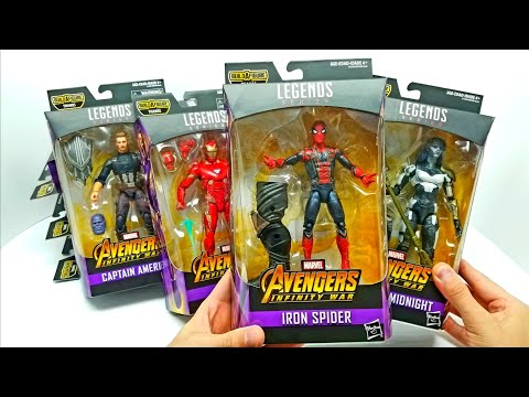 AVENGERS INFINITY WAR Marvel Legends Complete Set! With Build a Figure THANOS!