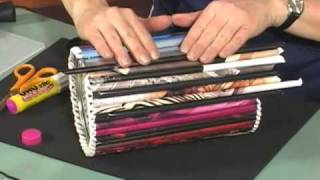 Magazine Roll-up Crafts