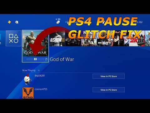 PS4 Pause Glitch While Downloading A Game