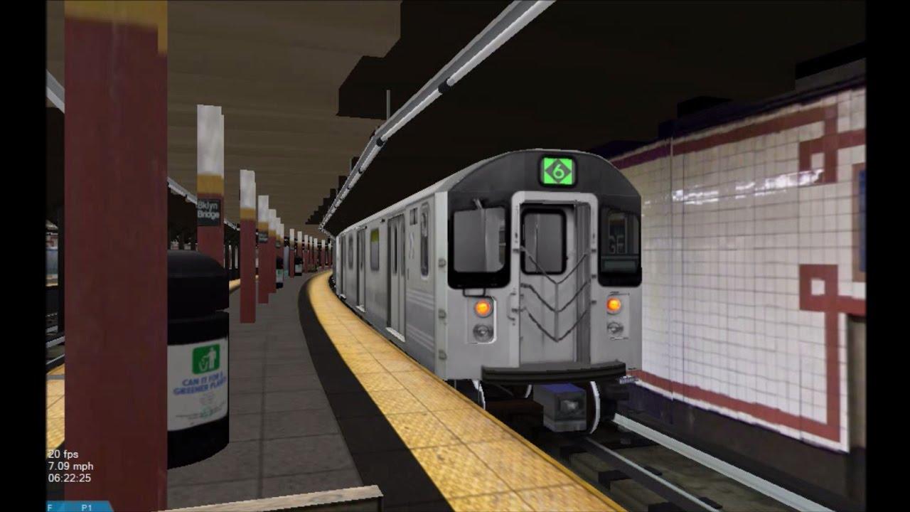 OpenBVE HD: NYC Subway Kawasaki R110A [New Release] on The 6 Express Train  (11/29/16)