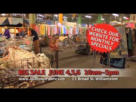 All About Fabrics June Sale
