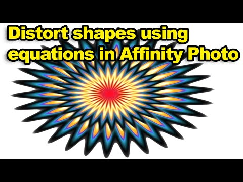 Affinity Photo : Distort shapes using equations filter tutorial thumbnail