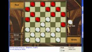 Let's Play Internet Checkers for Windows XP Part 1