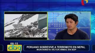 """Víctor Rímac tras terremoto en Nepal  """"Nos cubrimos en una roca durante avalanch HIGH1"""
