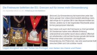 Die Freimaurer befehlen der EU: Grenzen auf für immer mehr Einwanderung !!!
