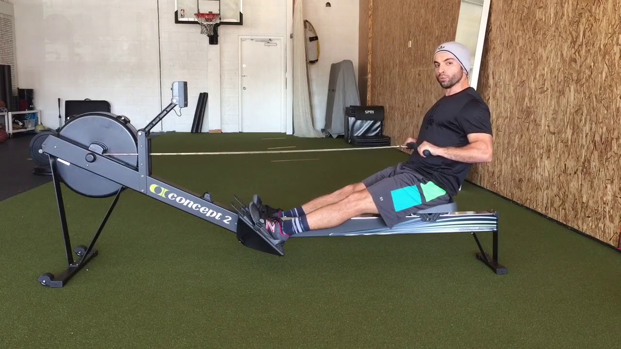 Proper Concept2 Rower Form - YouTube