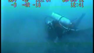 Diver Inspects Enbridge Pipeline in the Straits of Mackinac(2)
