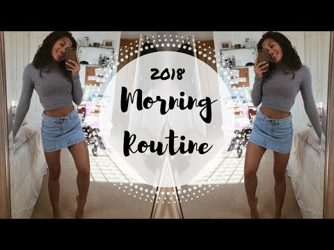 COLLEGE MORNING ROUTINE | GET READY WITH ME 2018