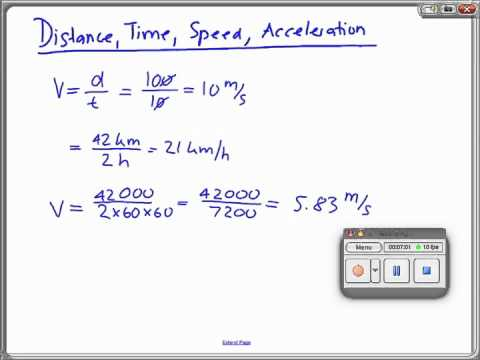 distance time speed acceleration m4v youtube