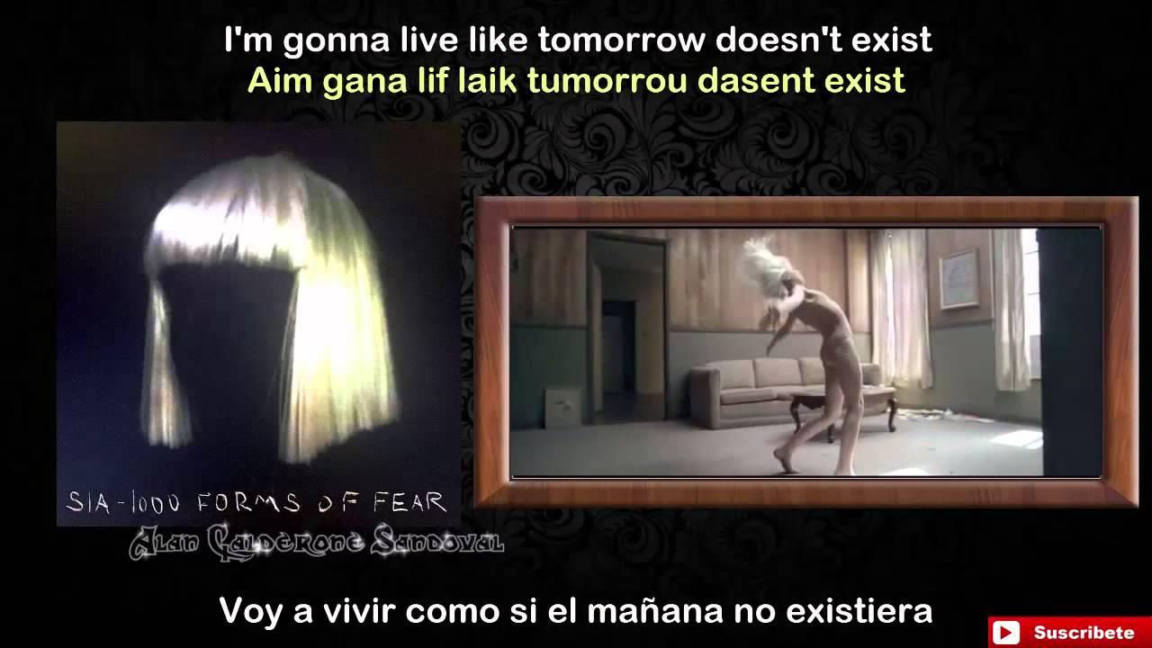 Sia Chandelier - Lyrics, letra en español +Pronunciación - YouTube