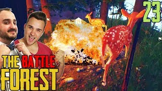 BAMBIS SPRENGEN :D #FUN ★ THE FOREST BATTLE #24 | The Forest Multiplayer | LPmitKev