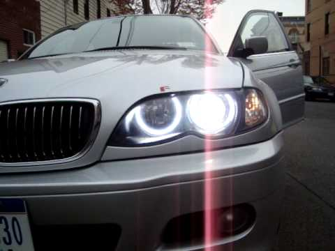 bmw e46 6000k xenon bulb start up and orion v2 angel eyes. Black Bedroom Furniture Sets. Home Design Ideas